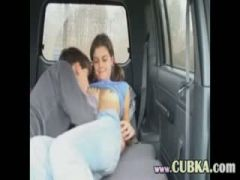 Russian amateurs sexing in the car