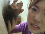 Yummy and pretty Rina Shibuya gives a handjob and bl from http://alljapanese.net