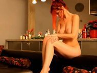 Special gift for redhead teenie