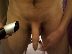 Shaving my cock and balls