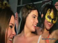At halloween party babes showing tits