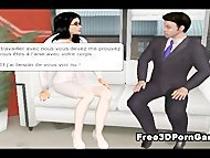 3D cartoon stud in leather takes it off for the boss