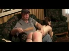 daddy spanks then let\'s not his daughter ride him