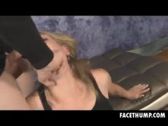 Blonde Whore Skye Avery With Hands Tied And Face Fucked