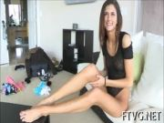 Girlie plays with vibrator