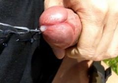 Ejaculation close up with slomo's