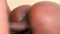Watch black cock fuck black pussy in close up