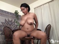 Busty Chubby Natalia Rubbing Her Hairy Pussy