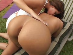 Sexy latina students fuck by the jungle gym.