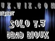 Brad Rioux in leather solo 7.5 huge uncut cock very thick