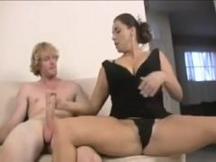 Handjob from two women