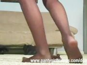 Lonely pantyhose babe