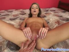 Petite babe pissing after POV sex