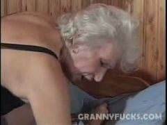 Naughty Grandma boner Drilled