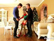 Gina Gerson Christmas Threesome