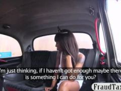 Big tits ebony brunette passenger nailed by the driver