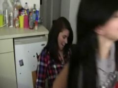 Three girls waiting on fuck with dick