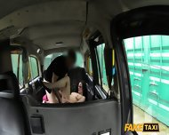 Amateur With Glasses Fucked In The Taxi