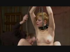 Chained Spanked And Vibrated Redhead