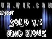 Huge Uncut Cock Thick ***Brad Rioux***  SOLO 7.4 Leather