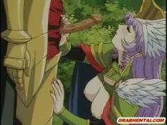 Princess hentai tittyfucked and doggystyle fucked in th