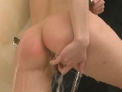 Teenager shovering and fingering pussy