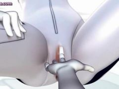 Animated doll holes rubbed by toys