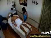 asian gives body to body masaage