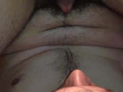 Selfsucking soft cock and balls