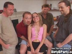 Tight Petite Teen Slut Gangbang