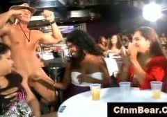 CFNM babes suck off  CFNM stripper