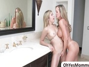 Blonde stepmom into blonde stepdaughter