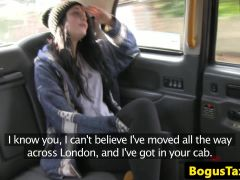 deepthroating tattoo passenger creampied in taxi