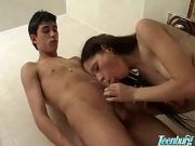 Hot teen getting face fucked