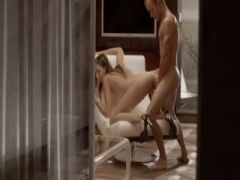 Luxury sex with shocking babe on a chair