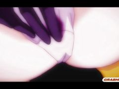 Japanese anime gets licked and fingered her wetpussy