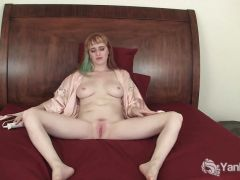 Vibrating Her Pierced pussy
