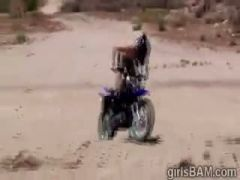 Extreme motocross for naked hotties