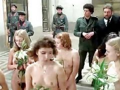 Group Of Nude People Coming To A Marriage