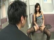 Asian Oralsex On A Train