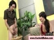 Young Cuckoldress Locks Him Up And Dommes Him