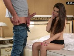 Defloration - a professional takes Mirella\'s virginity  HD+