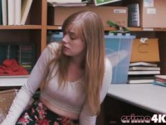 Cute dolly slut banged in the office store