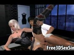 Big breasted 3D cartoon blonde getting fucked hard