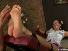 Ticklish Student Andrea is Back