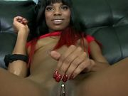 Sex Hunger Ebony Teen Zanica Face Fucked On Couch