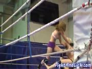 Euro beauties wrestle before pussylicking