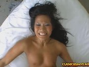 Black haired Christina banged from behind