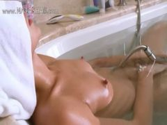 Petite latvian girl in the hot bath