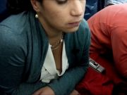 Nice Downblouse Of Airline Passenger